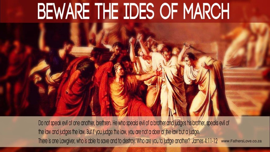 Beware the Ides of March in church