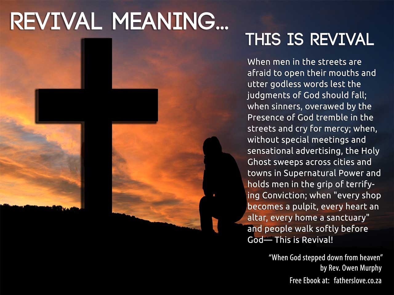 What is the menaing of revival