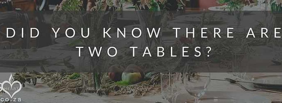 There are Two Tables